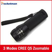 Wholesale Laser Hunting Flashlight - 1pcs 2000Lumens CREE Mini lanterna LED military hunting camping laser Flashlights Zoomable Free shipping