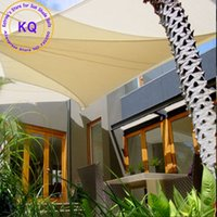 Wholesale x4 x6 M Triangle Waterproof Sun Shade Sail Polyester fabric PU coated with free ropes for garden pool