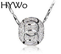 Wholesale jewelry factory outlet resale online - HYWo sterling silver pendant bead transporter female models wild fashion jewelry vintage cute super flash jewelry Factory outlets