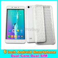Wholesale Wholesale Store Phone Cases - 6 inch 3G Unlocked Smartphone G3 Dual SIM MTK6572 Dual Core 512MB 4GB Android 4.4 Mobile phones Smart Wake-up Free case DHL