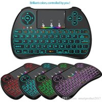 H9 Mini Keyboard Hand-hold 2.4GHz Wireless QWERTY Teclado Remote Controller Air Mouse Combo para Desktop Laptop com RGB Backlit