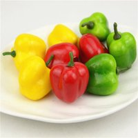 10 pcs 3.4cm Foam Chili Artificial Foam Plastic Vegetables Fake Artificial PE Fruit Model Party Cuisine Décoration de mariage