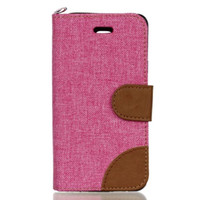 Wholesale Dual Jeans - For Samsung Galaxy A310 A510 J510 2016 A3 A5 J5 HTC ONE M10 Wallet Leather Case Jeans CANVAS Pouch TPU ID Card Stand Dual Color Skin Luxury