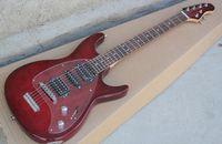 Wholesale music man guitars resale online - Custom Music Man Steve Morse Y2D RED Sunburst Electric Guitar Flame Maple top