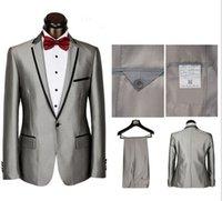 Wholesale Best Classic Ties Colors - Custom Made New Style Groom Tuxedos 2 Colors Best man Suit Peak Lapel Groomsman Men's Wedding Suits Bridegroom(Jacket+Pants+Tie+Girdle)