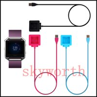 Wholesale black power cord for sale - Charging Cable Charger Power Adapter Dock Cradle Cord Wire For Fitbit Blaze Smart Watch Black blue Pink