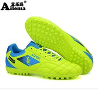 Wholesale Ma B - Ai Le Ma Ailema Children's Football shoes Broken nail TF Male Students Shoes middle soccer shoes Train the Bottom Rubber non slip 31-44