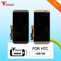Wholesale One Touch Panel - for HTC One M9 LCD Display & Touch Screen Digitizer with Front Frame Housing Full Assembly 100% Tested High Qualit 5pcs lot High Quality