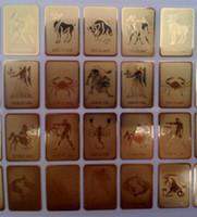 Wholesale 24k Gold Mobile Sticker - Wholesale 24K gold zodiac mobile phone anti radiation sticker 12 constellation anti radiation shield Bio Energy Sticker 10pcs free shiping