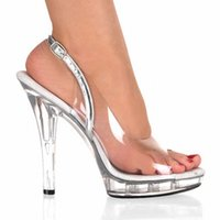 Elegant Full Clear 14cm Super Talon Chaussures Sandales Plateforme, Pole Dance Shoes, Party / Wedding Shoes