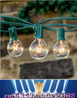 Wholesale White Led Globe Party Bulb - 25Ft Clear Globe Bulb G40 String Light Set with 25 G40 Bulbs Included Patio Lights & Patio String G40 Bulb String Lamp MY