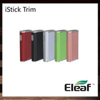 Wholesale led trims - Eleaf iStick Trim 25W Mod 1800mAh built-in Battery Intuitive LED Battery Bar 3 Power Levels Thin Elegant Looking 100% Original