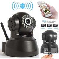 panelas de qualidade venda por atacado-Câmera IP sem fio WIFI Webcam Night Vision (até 10 M) 10 LED IR Duplo Áudio Pan / Tilt Suporte IE S61 alta qualidade