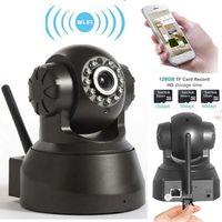 gece görüş sesli mini kamera toptan satış-Kablosuz IP Kamera WIFI Webcam Gece Görüş (UP 10 M) 10 LED IR Çift Ses Pan / Tilt Destek IE S61 yüksek kalite