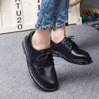 Wholesale yellow wedge boots - Genuine Leather DR Martenns 1461 Leather Martin Boots Men Women's Vintage Retro Warmer Hiking Sports red Shoes Flat-Bottomed Casual Martin