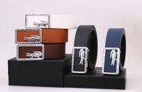 Wholesale Wholesale Faux Crocodile Leather - 2016 Hot 2pcs Lot luxury Letter belt genuine smooth word deduction leisure wild men women boys girls students Belt crocodile belt buckle