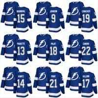 Wholesale Bay 13 - 2018 New Season Tampa Bay Lightning Jersey 37 Yanni Gourde 91 Steven Stamkos 13 Cedric Paquette 21 Brayden Point Hockey Jerseys