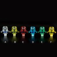 minion takmak toptan satış-Plastik 510 Damla İpuçları Renkli Geniş Çap Şeffaf Sevimli Minionlar Ağızlıklar Fit Büyük Damlatıcı V1 Buhar Türbini Atomizer Sıcak Satış