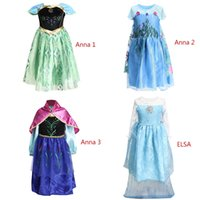 Wholesale Dress Girl Brown Leopard - 19 Styles Children Girls Elsa Anna Princess Dresses For Children Party Formal Lace Mesh Dress 3-12 years Free Shipping By DHL