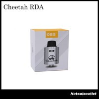 Аутентичные Новые OBS CHEETAH RDA TC REBUILDABLE БРЫЗГ ФОРСУНКА TOP DESIGN REFILL 100% ОРИГИНАЛ DHL FREE