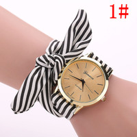 Wholesale ladies summer fashion watches resale online - Ms speed sell pass new cloth belt watches Summer small pure and fresh cloth belt table Geneva ladies cloth belt table