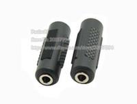 свободный разъем для наушников оптовых-Двойной 3.5 мм женский женский штекер аудио адаптер для наушников разъем муфты разъем / бесплатная доставка DHL / 300 шт.