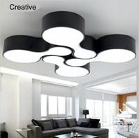 nuevos modernas lmparas de techo led para la sala de estar dormitorio w cuerpo balcn cocina lmpara de techo del comedor cortina de hierro
