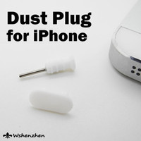 rolhas de pó para iphone venda por atacado-silicone Doca Poeira TPU plug Stopper Headset Ear Cap Dustproof Plugs para iPhone 5 iphone5 5s iphone android