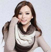 Wholesale-New Fashion Unisex Womens Ladies Men's Winter Knitted Circle Loop Capuz Infinity Scarf Snood Scarves Wraps Frete Grátis