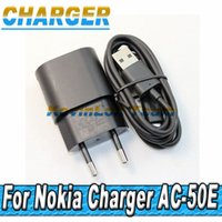 Wholesale Mircro Usb Charger - Wholesale-100set lot 5V 1.3A AC-50E C Travel Wall Charger + Mircro USB Charging Data Cable For Nokia lumia 625 920 1020 900 920t 925t 1020