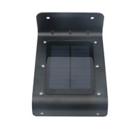 Wholesale 16led Solar Lights - 100PCS Solar panel Lampada Led Wall Lamp light Human Sensor 16Led SMD2835 Waterproof Outdoor Garden Pathway Emergency Lights Black Shell