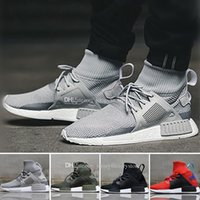 Wholesale High Top Boots For Women - 2018 Cheap Discount NMD XR1 all Red Black man Running Runner Boots for Women and Mens designer Outdoor High Top Sneakers Shoes Eur 36-45