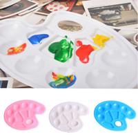 ingrosso artisti dipingono palette-Forniture per pittura per bambini Tavolozza dei colori Arte alternative vassoio di pittura artista acquarello tavolozza di plastica
