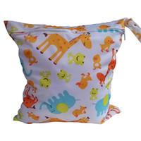 ingrosso sacchetto bagnato della chiusura lampo-Utile impermeabile riutilizzabile Zipper Baby Cloth Diaper Wet Dry Bag Swimer Tote Ly4 borsa per pannolini borsa
