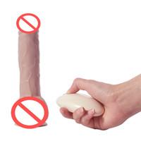 realistischer strap penis großhandel-Drahtlose Kontrolle Wasserdicht Premium Realistisch Dildo Saugnapf Vibrator Penis Sex Spielzeug für Frauen Sex Vibration