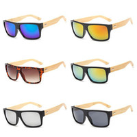 Wholesale Cheap Bamboo Sunglasses - High Quality Wooden Eyewear Wood Sunglasses Designer Natural Bamboo Vintage Sun Glasses Logo Available Plastic Frame Men Women Cheap Sale