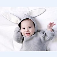 Wholesale Retail baby clothes rabbit baby sweaters children hooded Outwear Coat Girls boys Hoodies Sweatshirts kids long sleeve hoody Jackets clothing