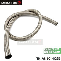 Wholesale Braided Hoses - Tansky - NEW 10AN AN -10 1m Stainless Steel Fuel Oil Gas Braided Hose Line TK-AN10 HOSE