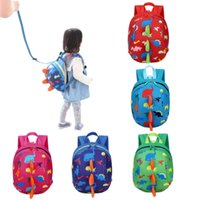Wholesale Kids Harness Backpack - Child Kid Anti-lost Backpack Dinosaur Backpack Baby Walking Safety Harness Reins Toddler Leash Cute Cartoon Backpack