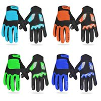 DHL 4Colors VTT Mountain Cycling Gloves Course de moto Automne Hiver Full Finger Touch Screen Bicyclette à vélo Vélo antidérapant Ciclismo