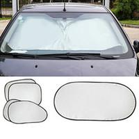 Wholesale block sun windows - 6pcs set 2016 New Car Window Sun Shade Car Windshield Visor Cover Block Front Window Sunshade UV Protect Car Window Film