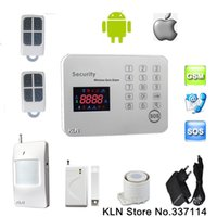 Gsm Alarm Systems Security Controle doméstico por chamada ou Sms Android Ios Remotly Touch Wireless 433mhz / 2 Wired Zone / 6 Call No-KLN