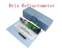 Wholesale Atc Brix Refractometer - Hand Held Brix Refractometer For Sugar Beer Brix Test Optical 0-32% Brix ATC Refractometer Meter With Retail Box
