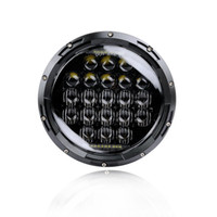 130w Philip 5D Lens 7 Inch LED Headlights DRL Bulbos Set Kit Projetor para Jeep Wrangler JK TJ LJ CJ Farol Driving Light
