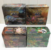 Wholesale Game Sets - Poke Trading Cards Games Break Through English Edition 4 Styles Anime Pocket Monsters Cards Toys 324pcs lot