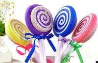 100pcs Cute Lollipop Style Rasp Pumice Stone Foot File Scraper Scrubber Foot Care Tool
