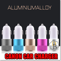 Wholesale Nipple Adapter - Aluminum little Cannon Car Charger 2 PortS Cigarette 2.1A Chargers Micro Dual USB Adapter Flash Nipple Dual USB Port for Phone & Pad