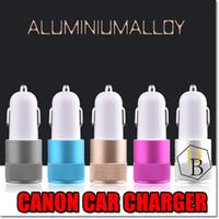 micro carregadores mini carro venda por atacado-Mini canhão carregador de carro 2 usb 1a carregadores micro dual usb adaptador flash mamilo dual usb portátil para iphone carregador de carro samsung