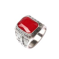 Wholesale Rings Design For Mens - New Explosion European And American Aristocracy Jewelry Mens Black & Red Crystal Ring Retro Christmas Gift Design For Men