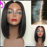 Wholesale wig short white - 10-16 Inch Cheap short bob wigs Black  brown Straight Synthetic Lace Front Wigs Glueless Synthetic Lace Front Wig for black women